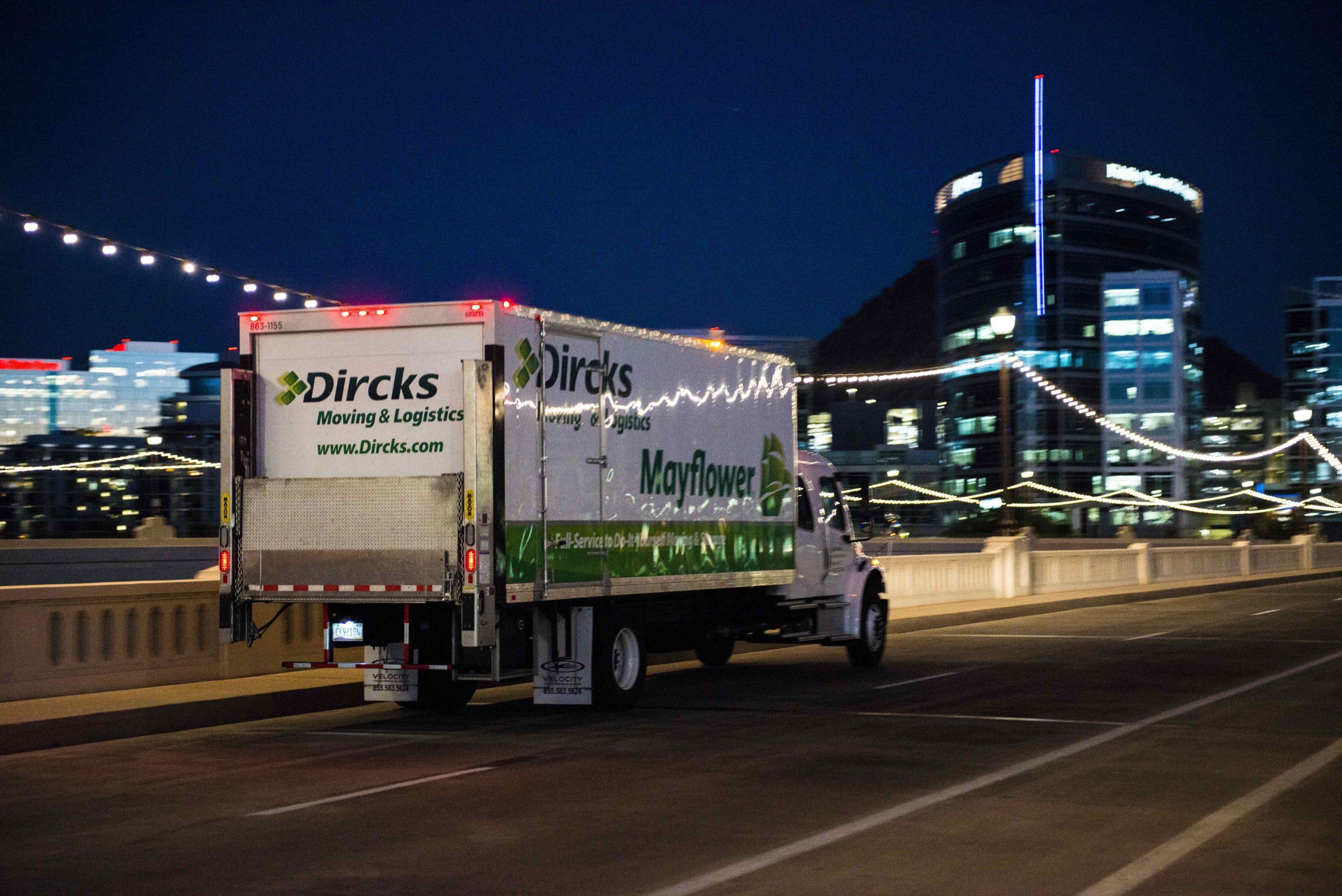 dircks truck driving at night
